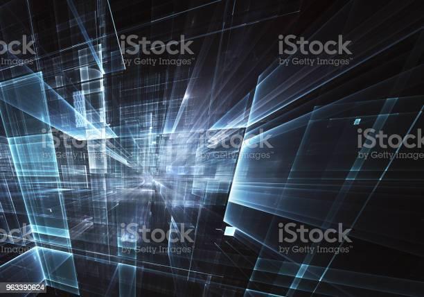 Sztuka Fraktalna Obraz Komputerowy Tło Technologiczne - zdjęcia stockowe i więcej obrazów Abstrakcja