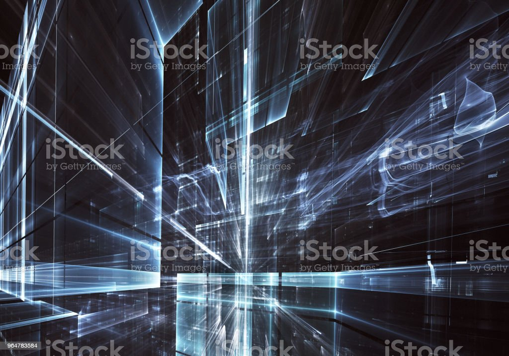 Fractal art - computer image, technological background royalty-free stock photo