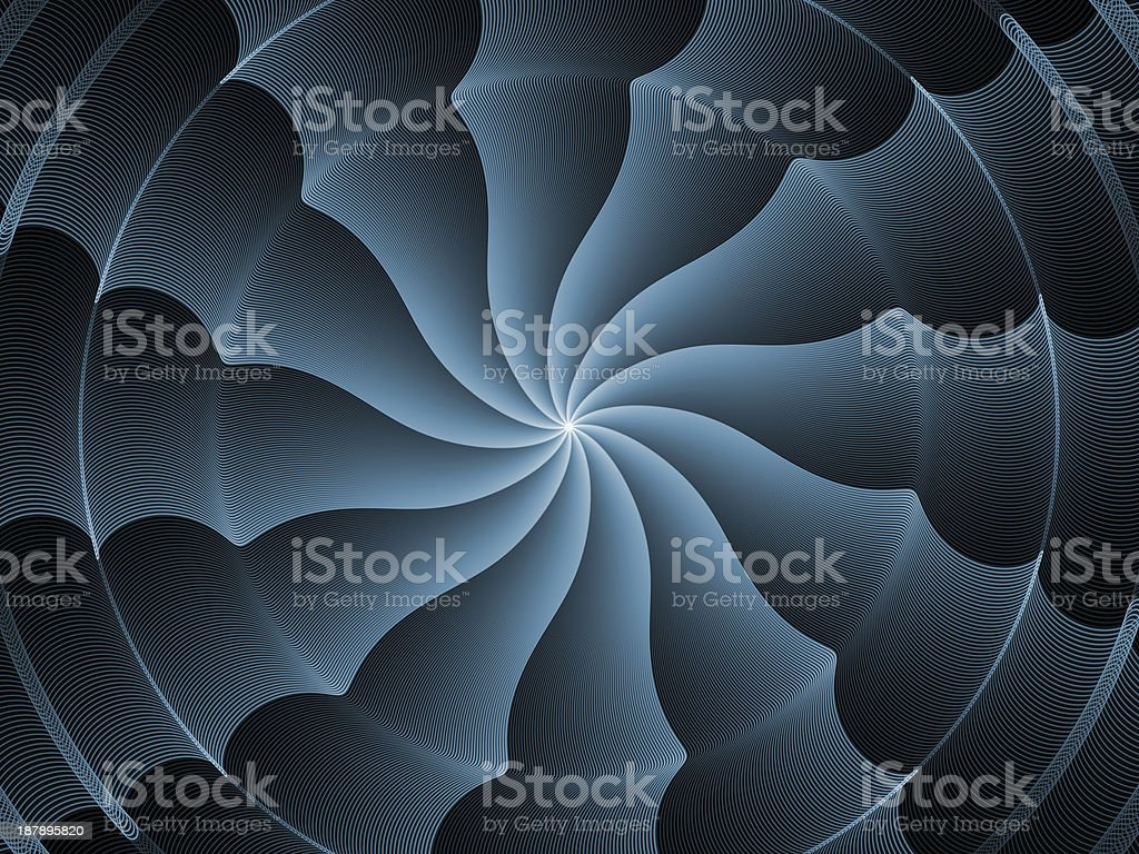 Fractal Burst Vortex royalty-free stock photo
