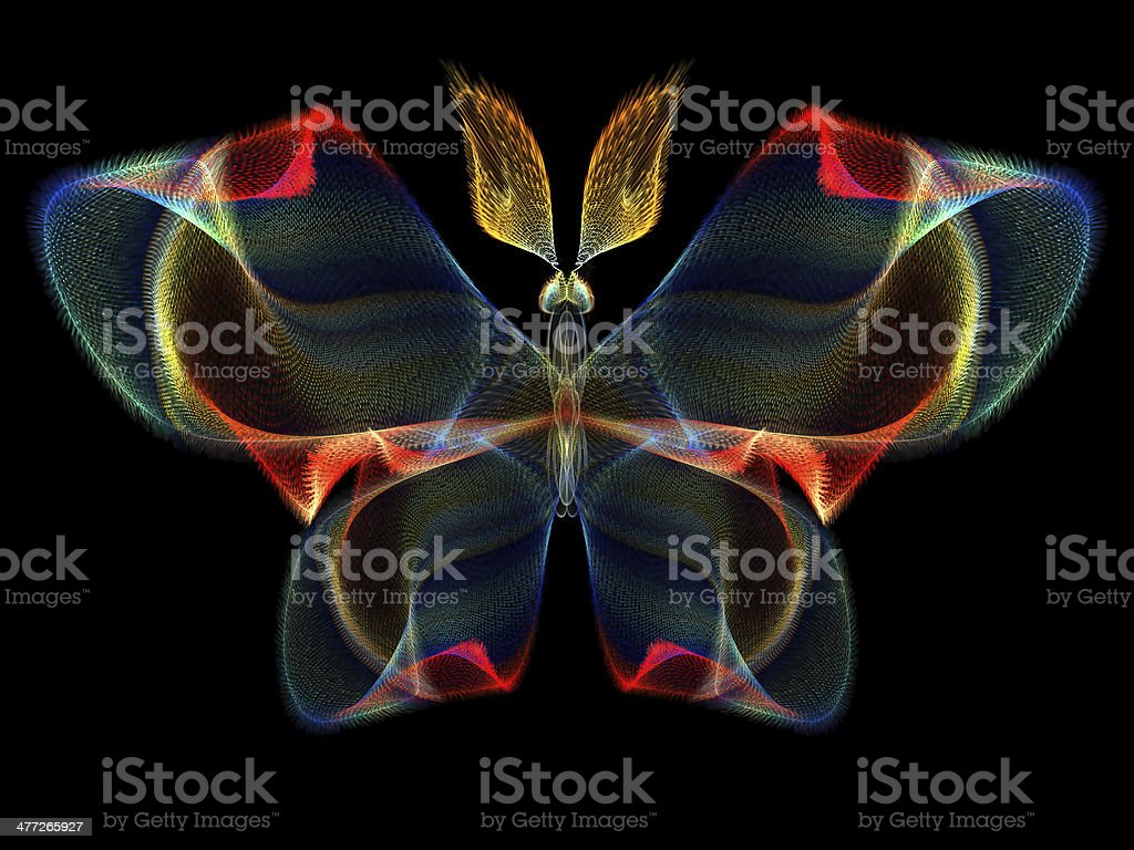Fractal Butterfly stock photo