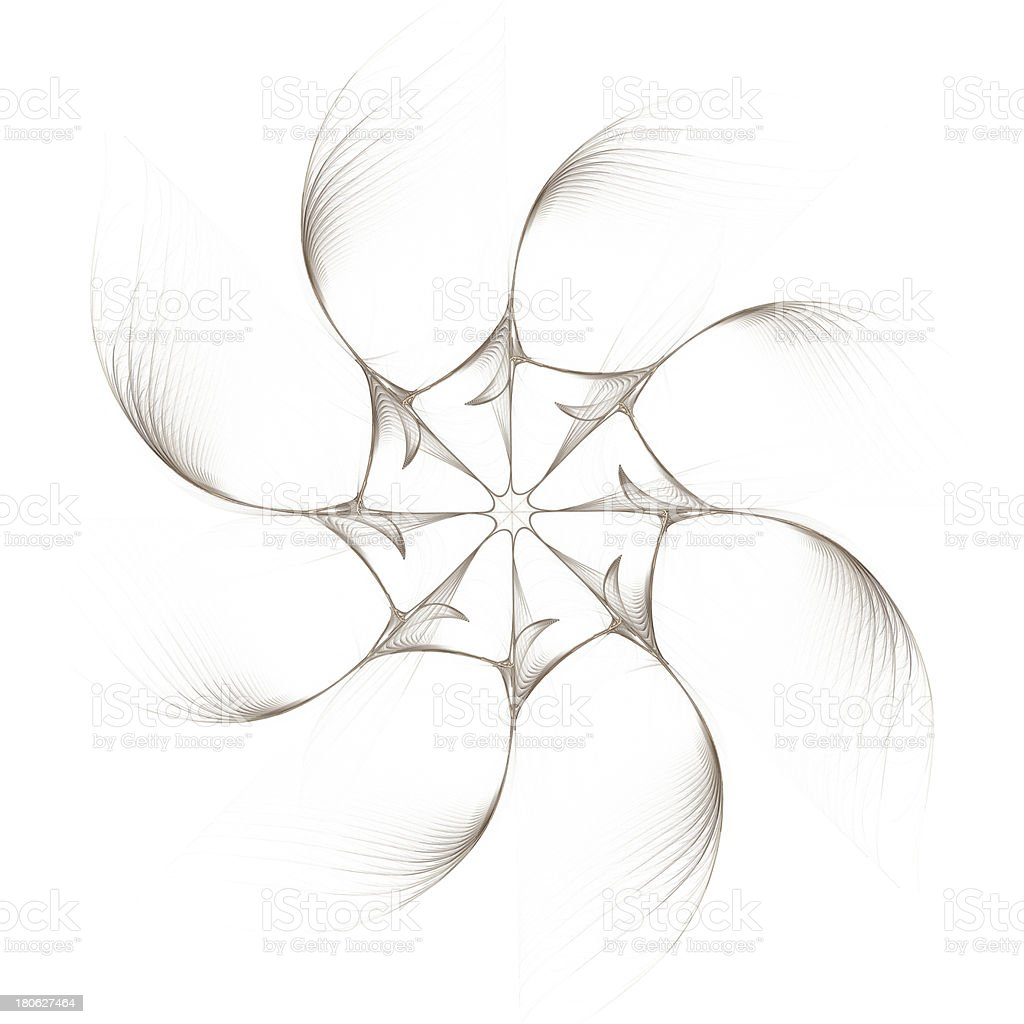 Fractal - eight-pointed abstraction royalty-free stock photo