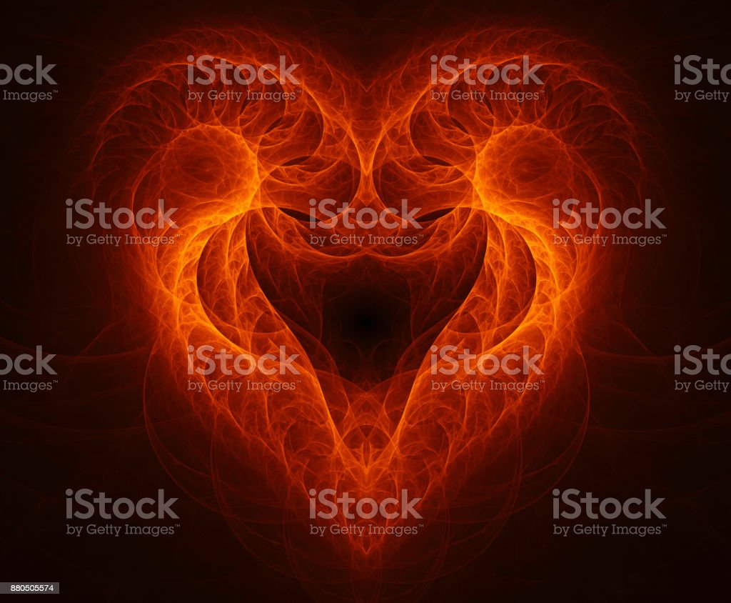 Fractal fire aries stock photo