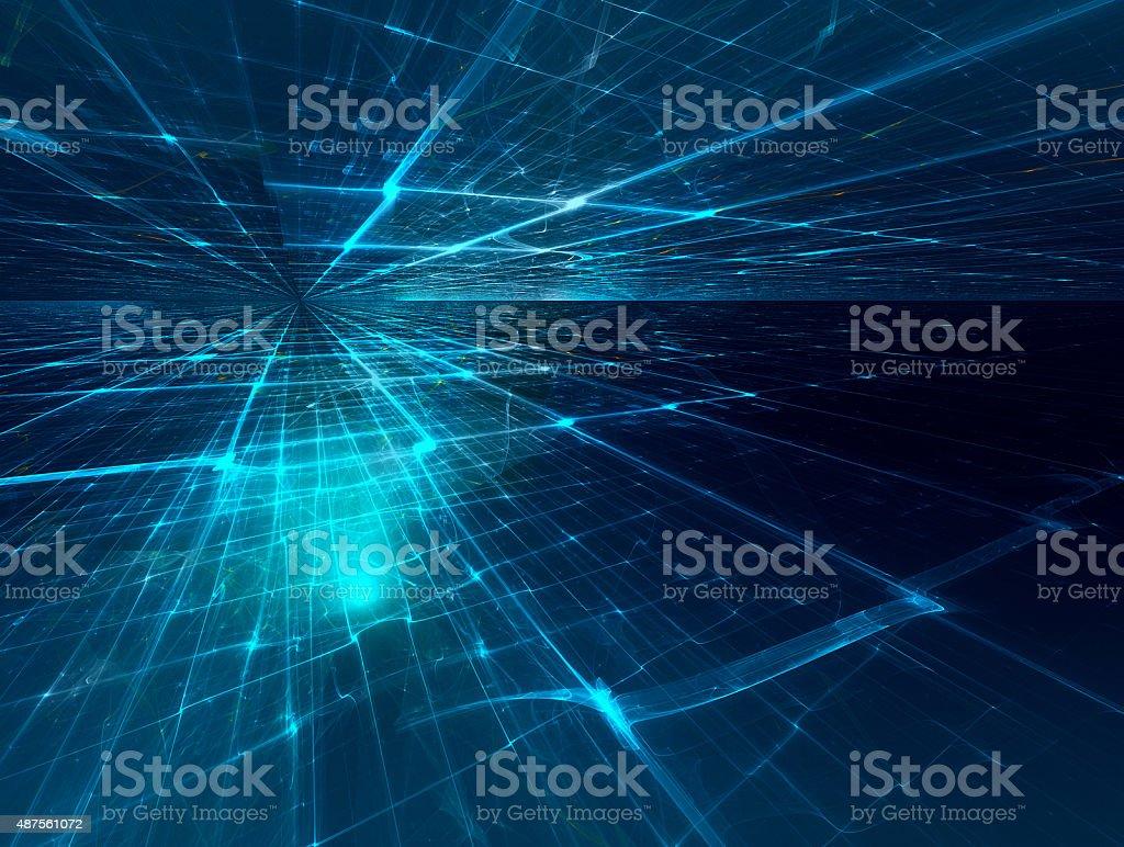 fractal horizon stock photo