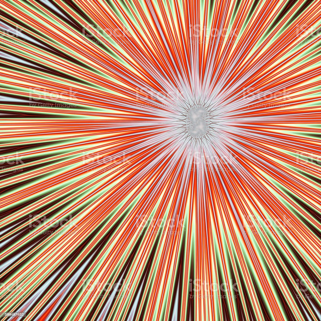 Fractal explosion in red yellow and black stock photo