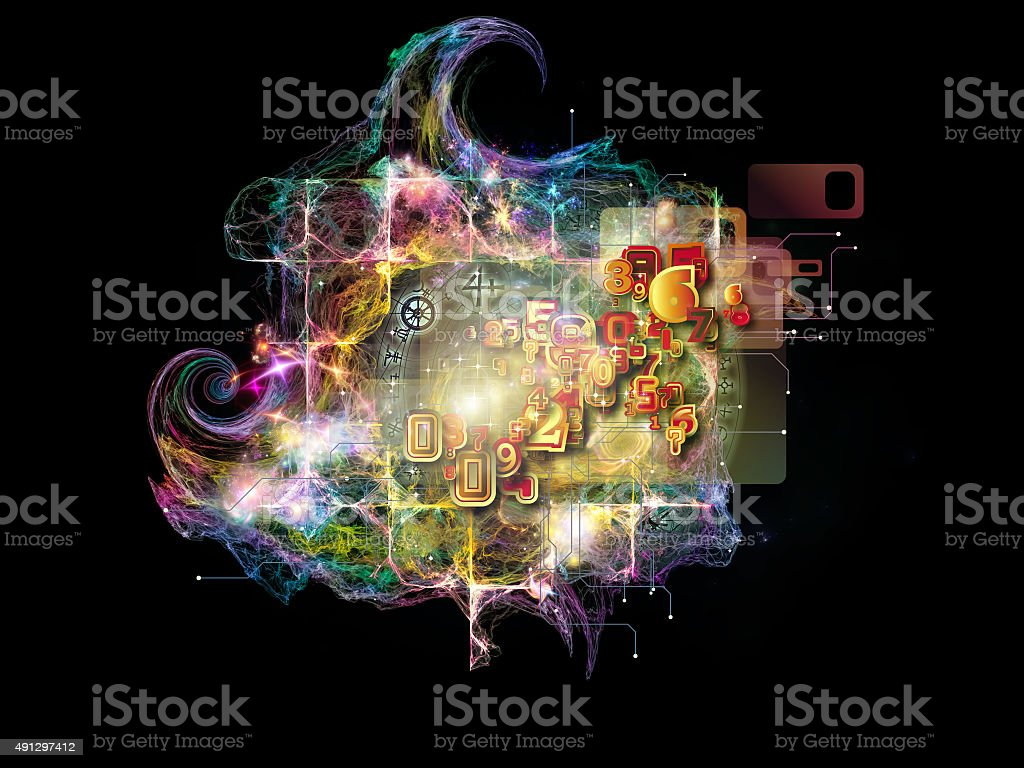 Fractal Math stock photo