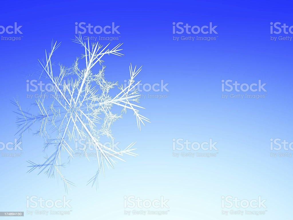 Fractal snowflake royalty-free stock photo