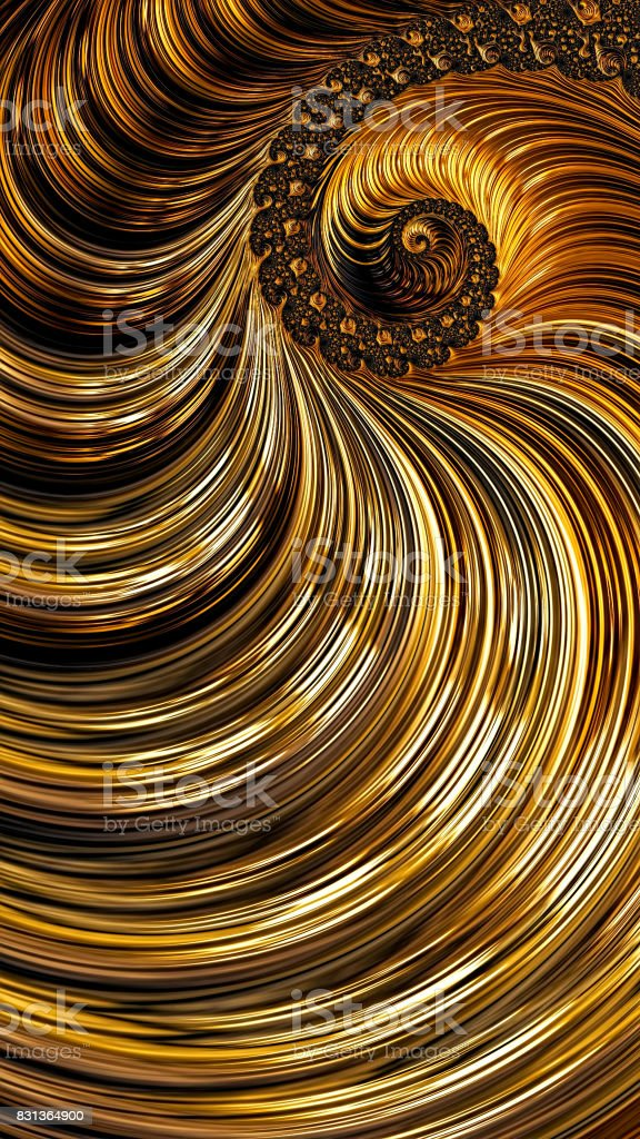 Fractal spiral background - abstract digitally generated image stock photo