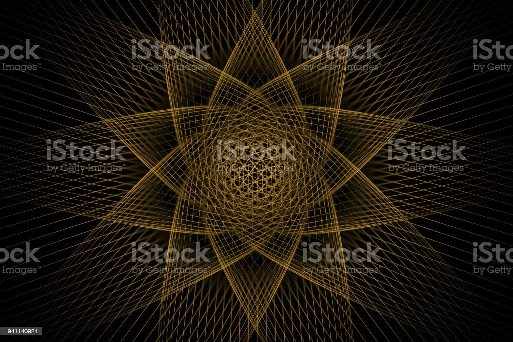 Fractal starry sky fantasy stock photo