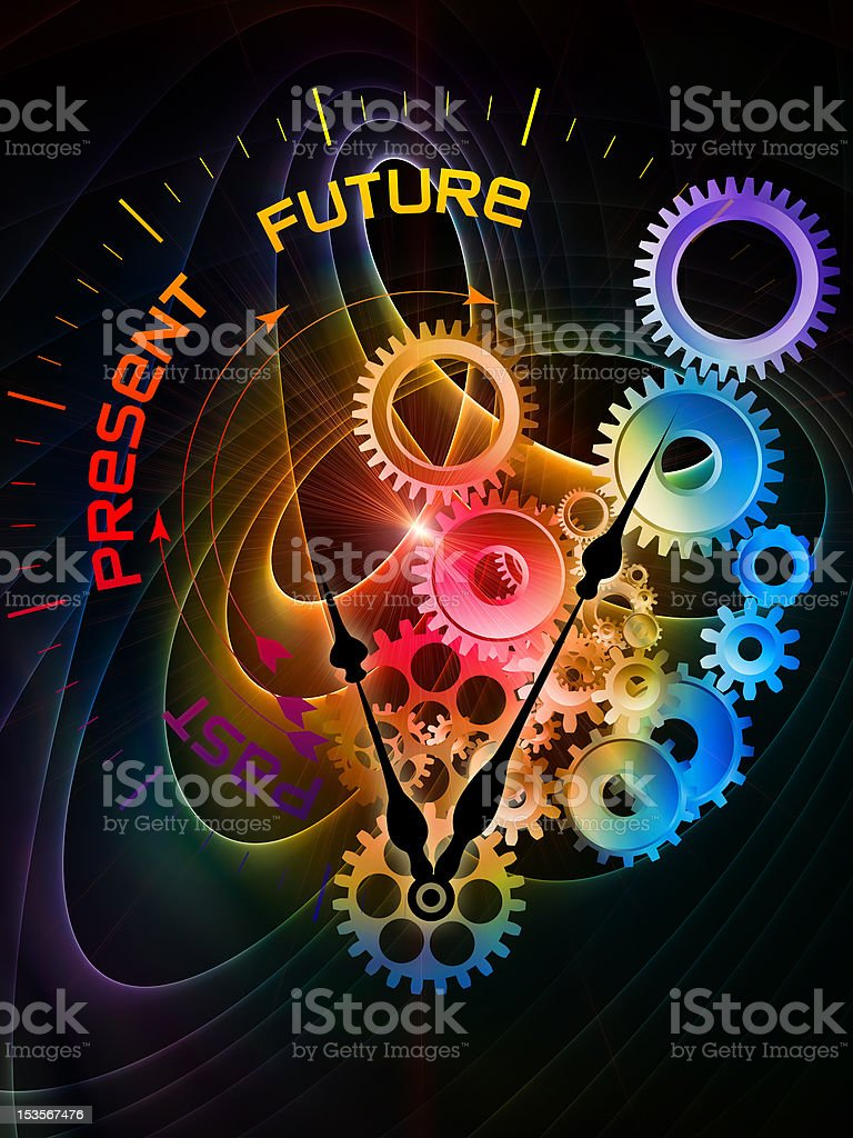 Fractal Time royalty-free stock photo