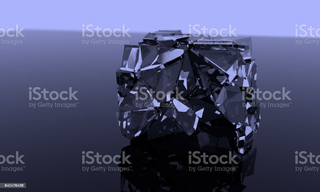 Fracture witer ice of background, 3d stock photo