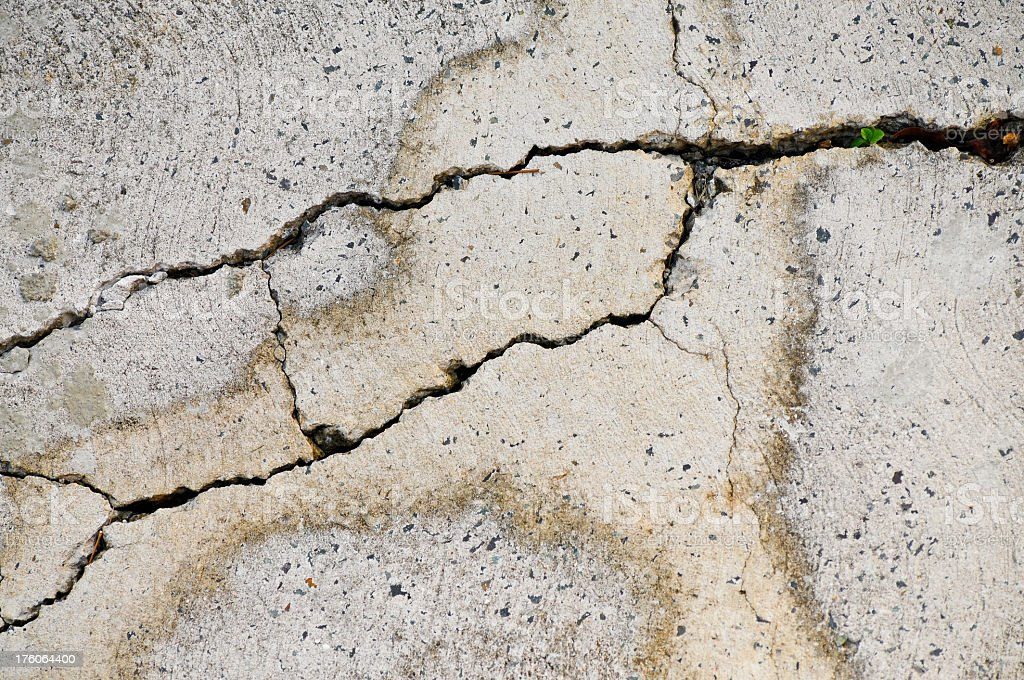 Fractured concrete royalty-free stock photo