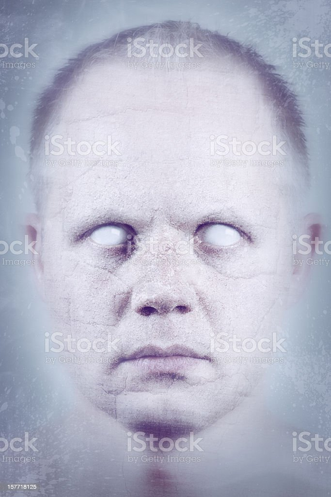 Fractured Psychedelic Face stock photo