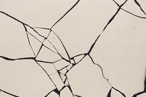 Fractured white concrete background