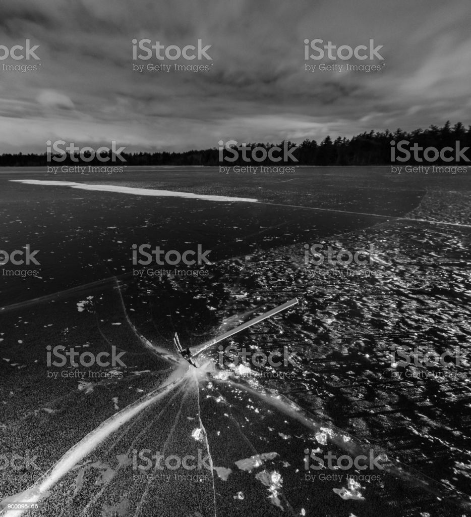 Fracturing Winter stock photo
