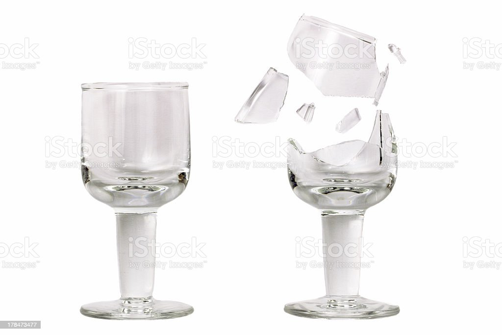 Fragile cup glass royalty-free stock photo