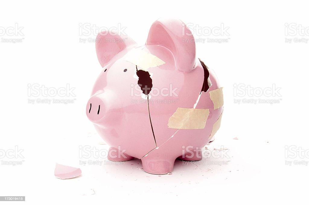 Fragile economy stock photo