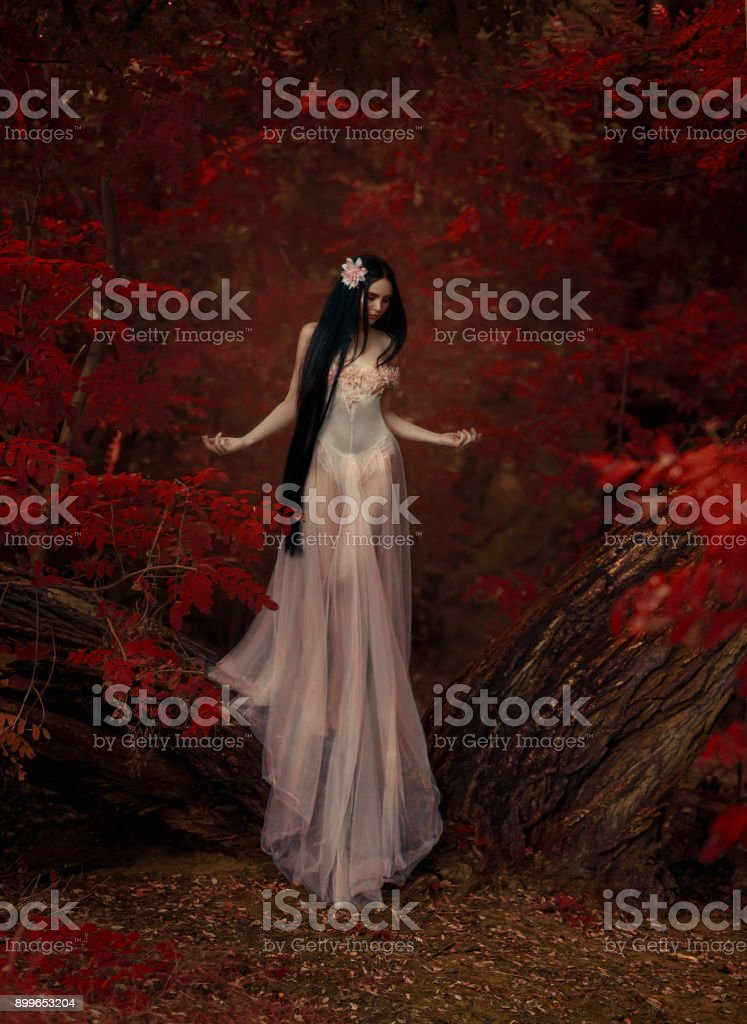 A fragile girl stock photo