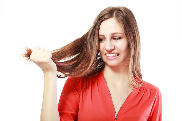 empfindliche haar - krause haare stock-fotos und bilder