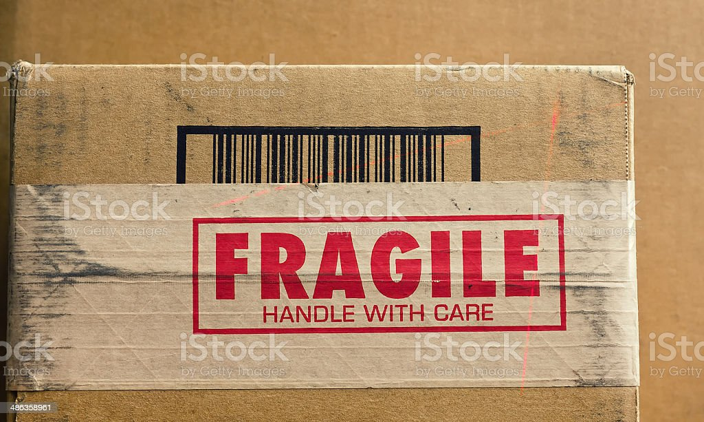 Fragile Handle with Care stock photo