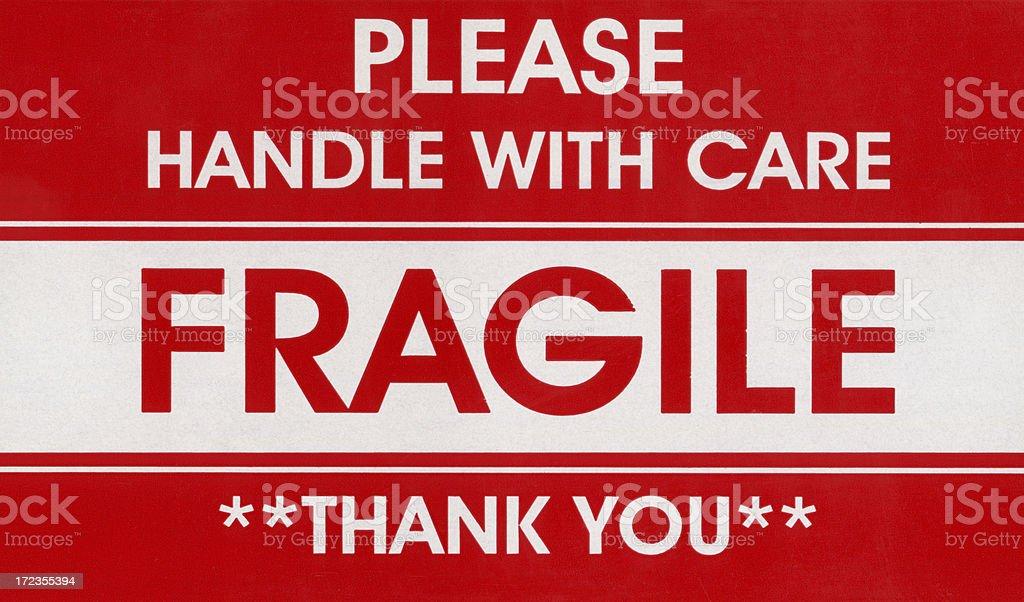 fragile label royalty-free stock photo
