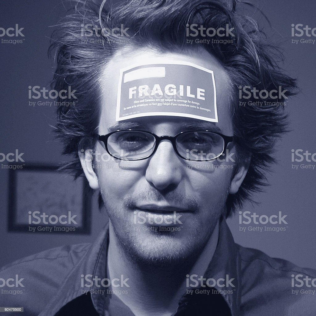 Fragile Man royalty-free stock photo