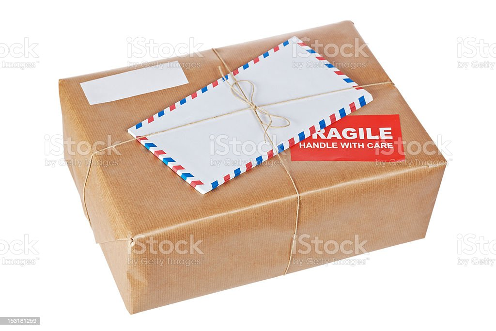 Fragile package stock photo