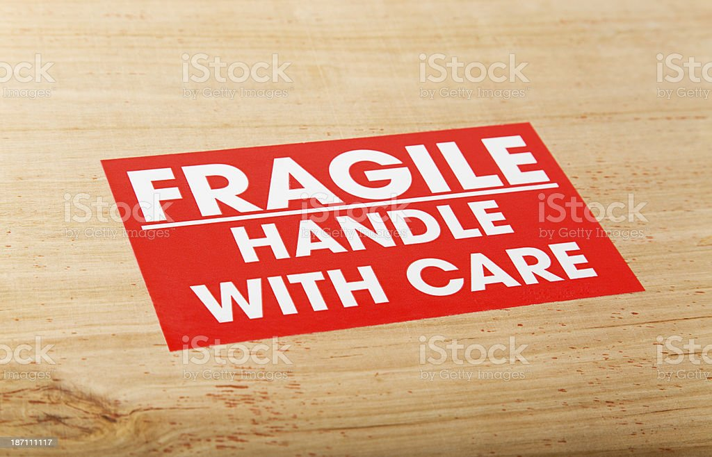 Fragile Package royalty-free stock photo