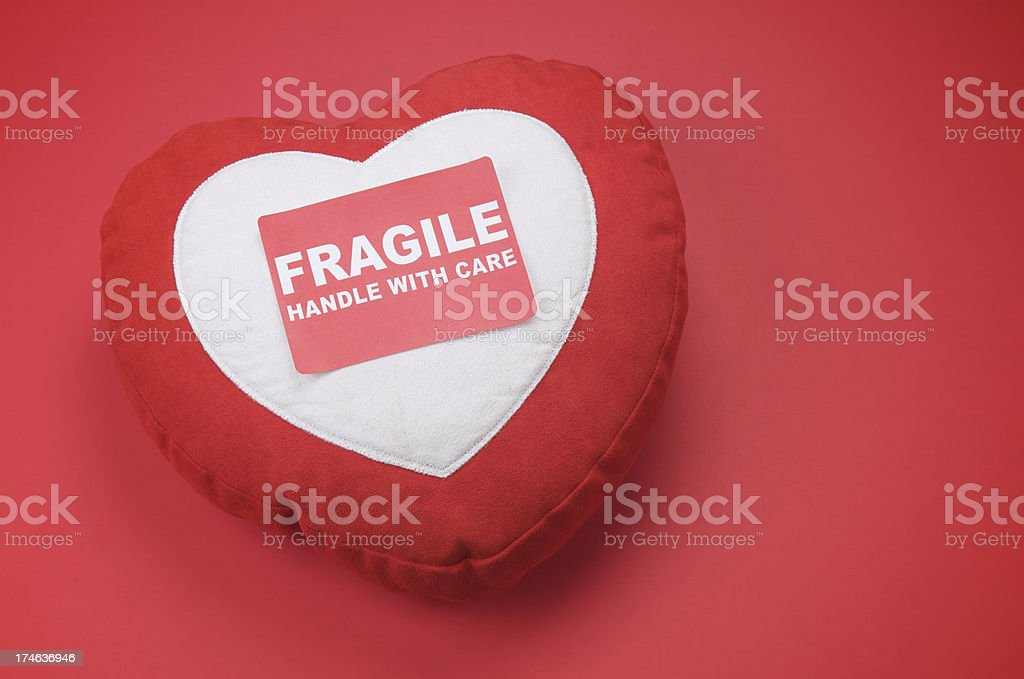 Fragile Red and White Heart royalty-free stock photo