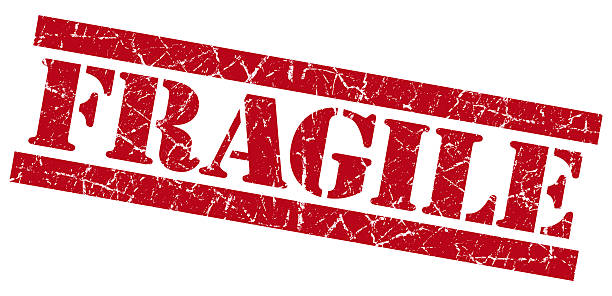 fragile red grunge stamp - fragile stock photos and pictures