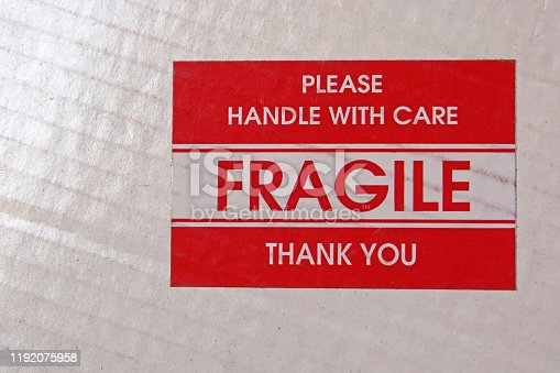 Fragile please handle with care thank you
