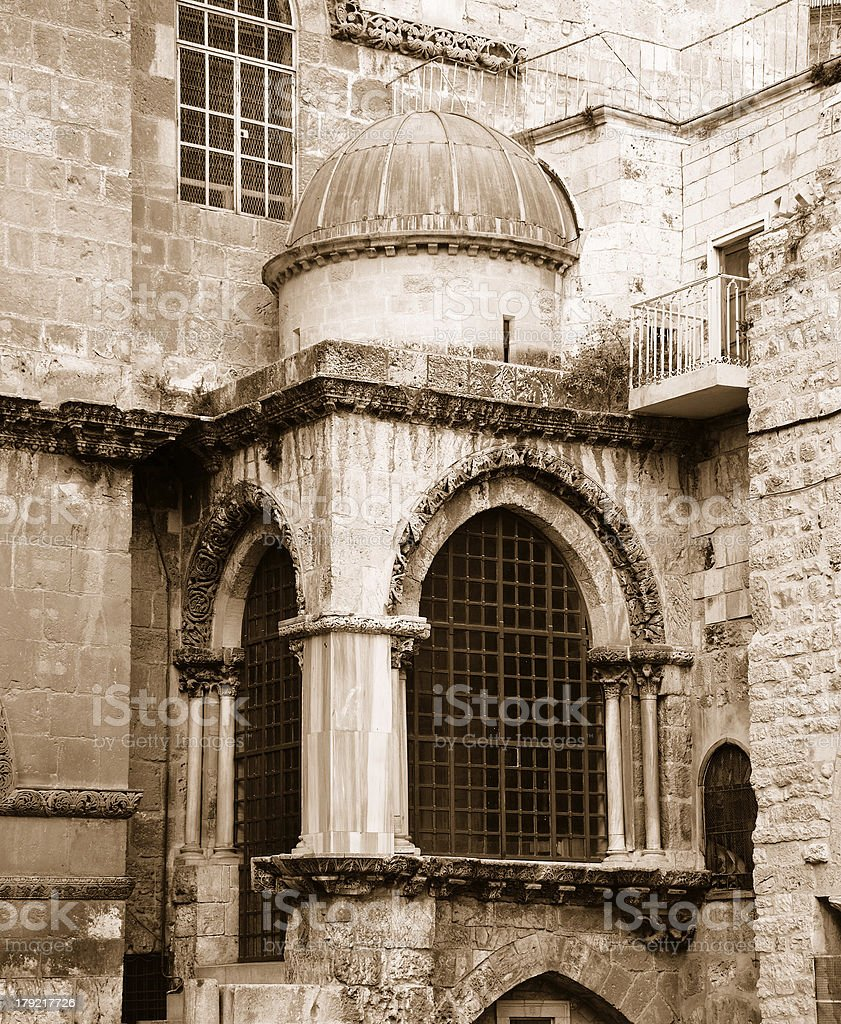 Fragment Church of the Holy Sepulchre royalty-free stock photo