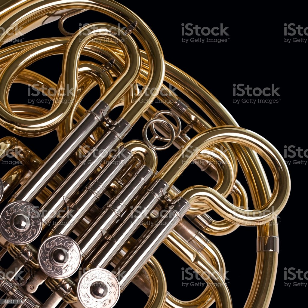 Fragment french horn stock photo