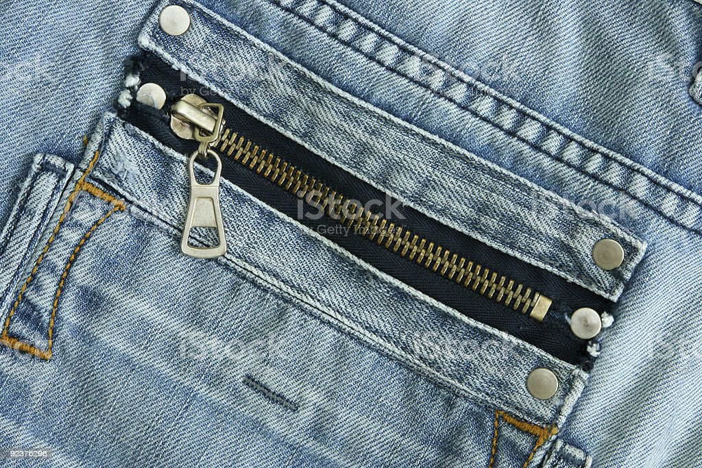 Fragment Jeans close up royalty-free stock photo