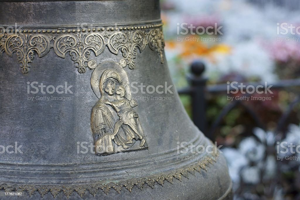 Fragment of a church bell royalty-free stock photo