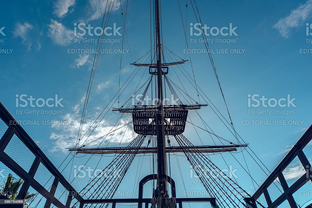 Fragment of a ship stock photo