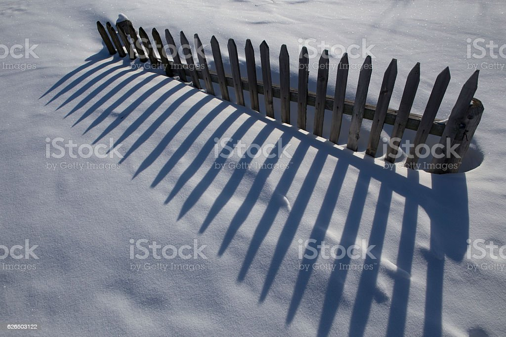 Fragment of a wooden fence stock photo