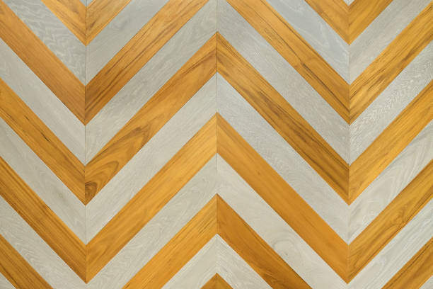 A fragment of a wooden panel hardwood. stock photo