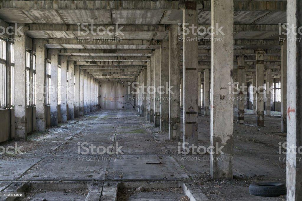Fragment of abandoned plant stock photo