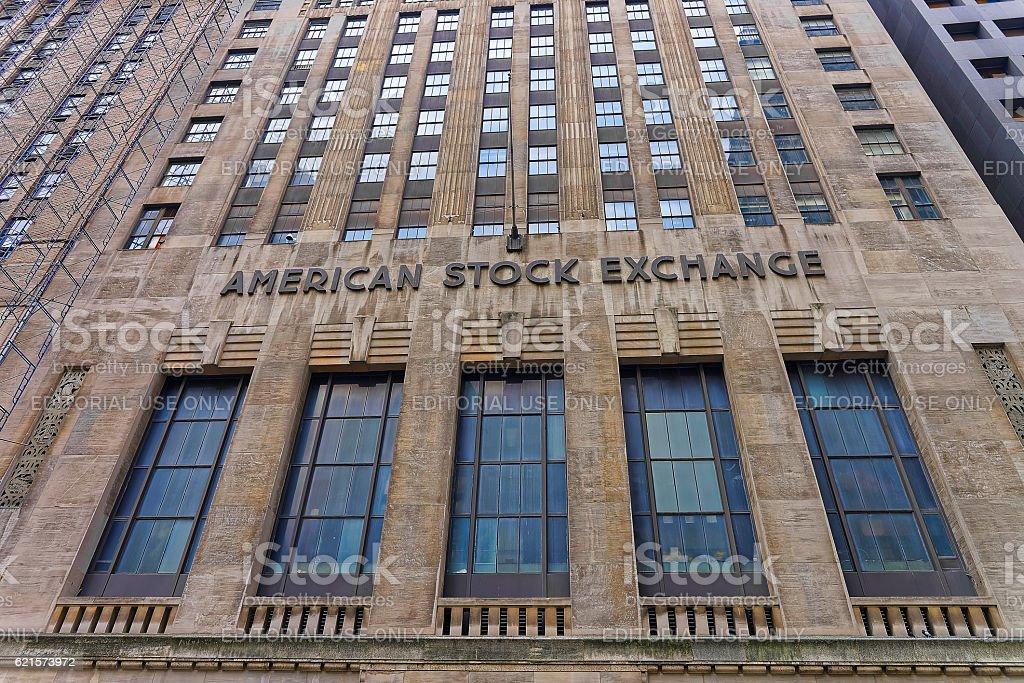 Fragment of American Stock Exchange Building photo libre de droits