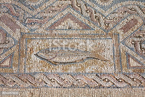 istock Fragment of ancient religious mosaic 624457620