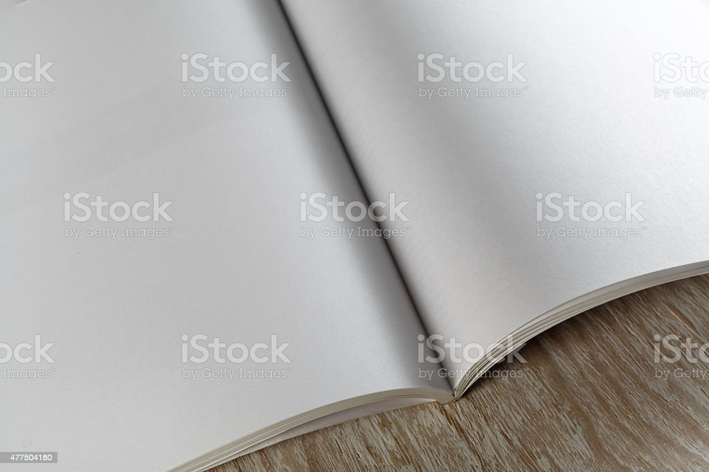 Fragment of blank magazine stock photo