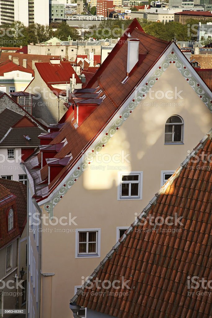 Fragment of building in Tallinn. Estonia royalty-free stock photo