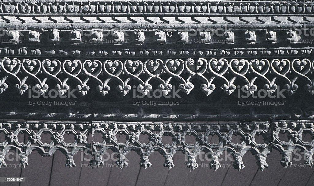 Fragment of Cast iron Fronton . royalty-free stock photo
