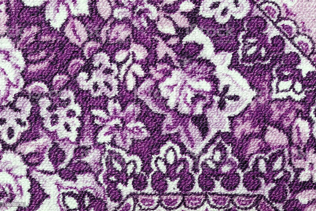 Fragment of colorful retro tapestry textile pattern with floral ornament royalty-free stock photo