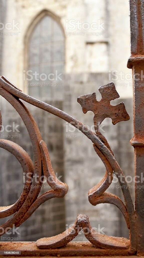 fragment of fence royalty-free stock photo