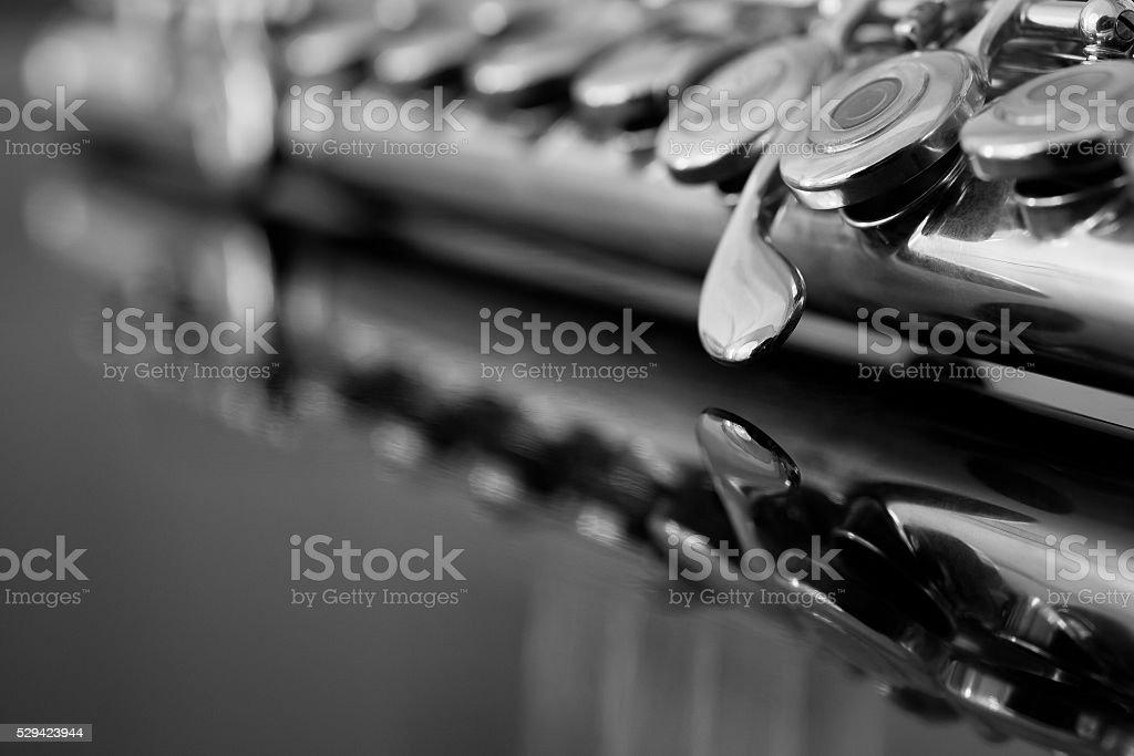 Fragment of Flute stock photo