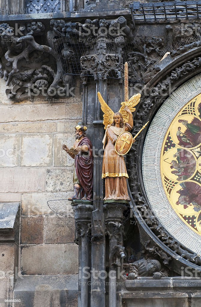 Fragment of old astronomical clock. royalty-free stock photo