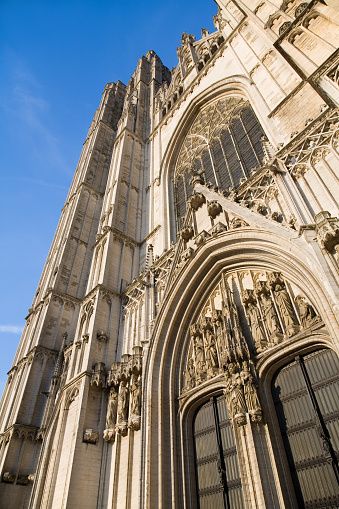 Fragment Of Saint Michael Cathedral In Brussels Stock Photo - Download Image Now
