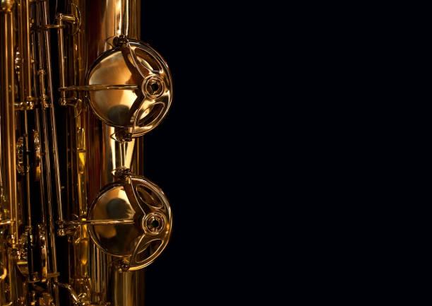 fragment der saxophon-ventile - altsaxophon stock-fotos und bilder