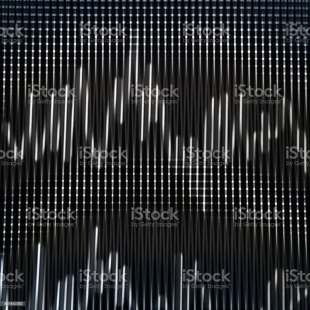 Fragment of sound engineer console with dual-band or double-channel signal stock photo